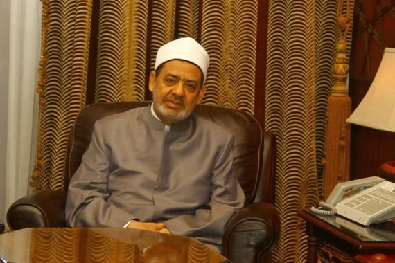 The Muslim Brotherhood says Ahmed al-Tayeb, the Grand Sheikh of Al-Azhar, supports what it calls a coup [EPA]