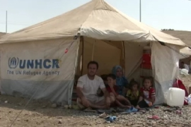 Syrian refugees arrive in northern Iraq