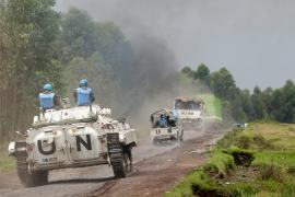 The United Nations has nearly 19,000 troops deployed in the DRC [File: Thomas Mukoya/Reuters]