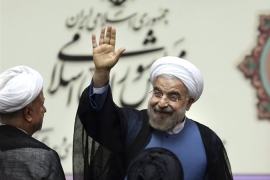 Iran's President Rouhani has strongly condemned the use of chemical weapons [AP]
