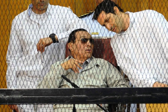 Egyptian toppled president Hosni Mubarak has stood trial in Egypt over corruption charges [AFP]