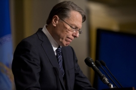 NRA's president Wayne LaPierre is confined to disregarding facts, claims Paul Rosenberg [AP]