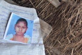 Malti Kuwar's daughter Kajal, 10, shown here, was one of the victims of the July tragedy [Chinki Sinha/ Al Jazeera]