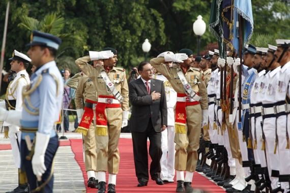 Known for his stance against armed groups, economic mishandling dented Zardari's popularity [Reuters]