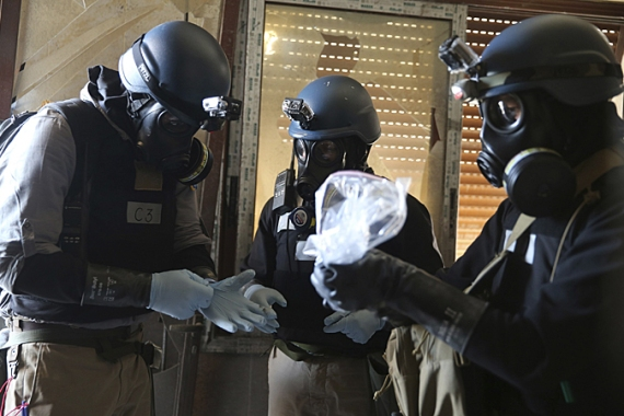 Syria's most dangerous chemical weapons must be out of the country by December 31 [Reuters]