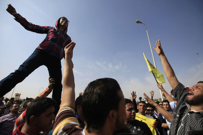 Ousted President Mohammed Morsi's Muslim Brotherhood group described defendants as Morsi supporters [AP]
