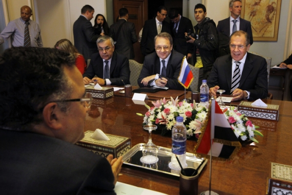 Russian and Egyptian ministers said they discussed everything from foreign policy to tourism [AP]