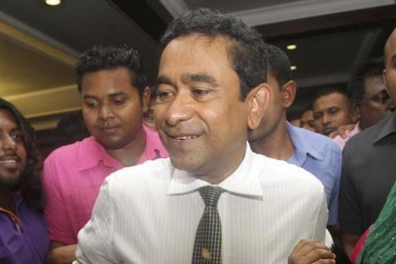 Abdulla Yameen won an election runoff on Saturday with 51.4 percent of the vote [Reuters]