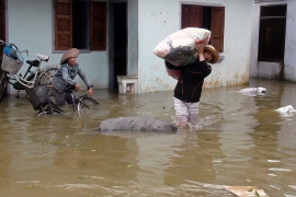 More than 100,000 homes were inundated by the floods, according to Vietnamese officials [AFP]