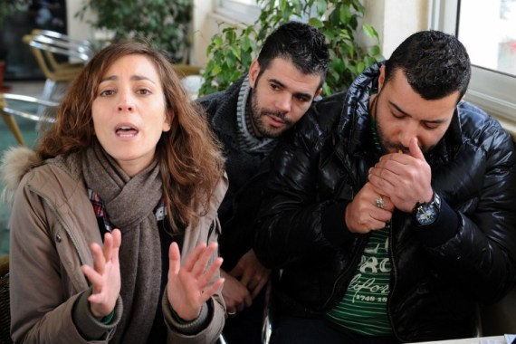 Meddeb (L), El-Fikih (C) and Fakhfakh were charged with insulting officials and attacking morals  [AFP]
