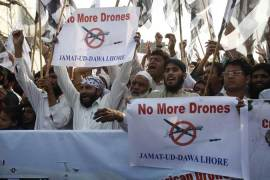The killing of Taliban leader Hakimullah Mehsud led to further widespread protests against US drone strikes [Reuters]