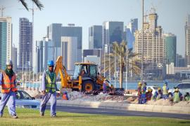 Qatar has the highest percentage of migrant workers in the world. Eighty-eight percent of people living in the Gulf state are citizens of other countries.
