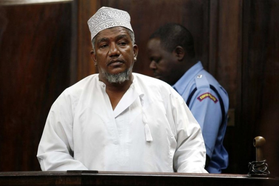 Abubakar Shariff Ahmed, known as 'Makaburi', stands inside the dock at a Law Court in Nairobi in 2010 [Reuters]