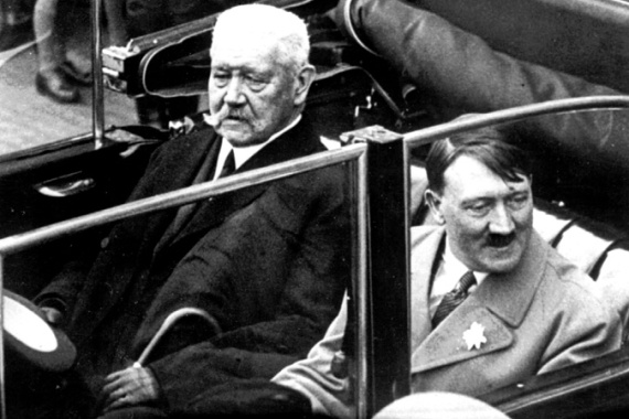 Honorary citizenship given to German President Paul von Hindenburg, left, also nullified by the town [AP]