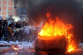 Riots erupt in Egypt after deadly bombing