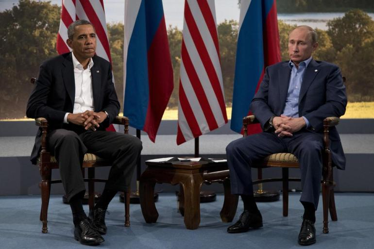 President Barack Obama meet with Russian President Vladimir Putin in June to discuss the ongoing conflict in Syria.