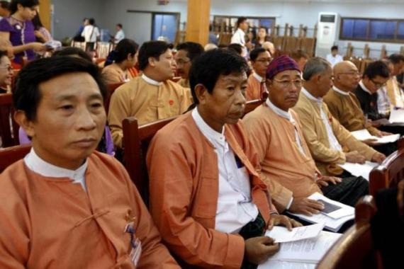 Suu Kyi's NLD party has suggested changes to the constitution to allow her to run [EPA]