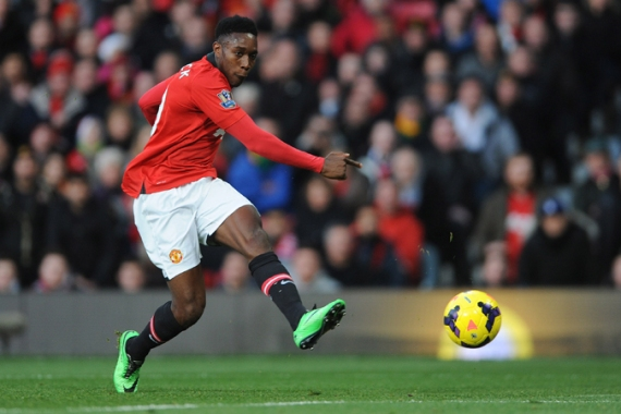 Danny Welbeck scores Manchester United's goal during their win at Carrow Road [EPA]