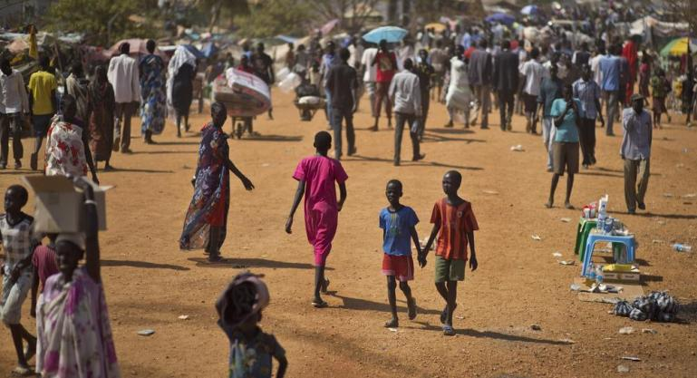 Tens of thousands of South Sudanese live inside a UN compound in Juba as violence intensifies across the country.