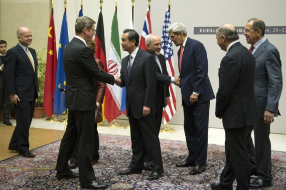 The foreign ministers of the P5+1 countries and Iran struck a milestone deal on November 24 [AFP]