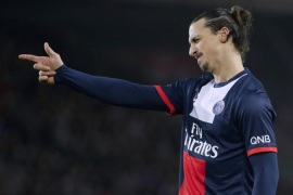 Paris Saint-Germain's Swedish Zlatan Ibrahimovic will not be at the World Cup this year[AFP]