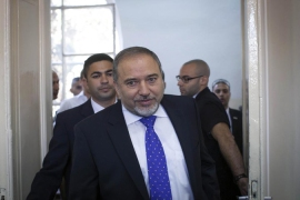 Foreign Minister Avigdor Lieberman strongly opposes the return of Palestinian refugees to Israel [AP]