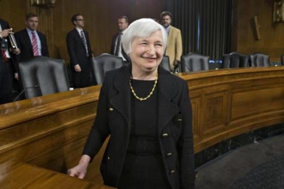 Janet Yellen recently became the first woman to head the US Federal Reserve.  [AP]