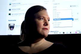 Facebook engineer Brielle Harrison, who is transgender, said the change 'means the world' to her [AP]
