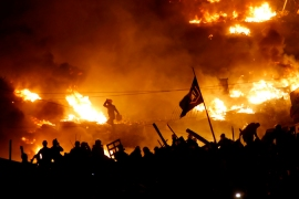 Kiev's Independence Square was the focal point of much of the initial violence [Reuters]