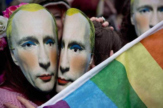 Russia's 'anti-gay' laws sparked protests at many of Moscow's embassies around the world [Reuters]