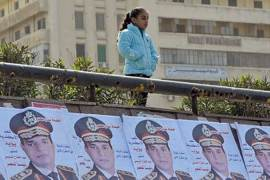 Egypt's former Field Marshal Abdel Fattah el-Sisi announced his candidacy for president on Wednesday [AFP]