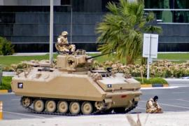 Saudi troops used Canadian-made armour during the clamp down on  the uprising in Bahrain in 2011 [Reuters]