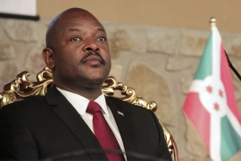 Burundi's President Pierre Nkurunziza  is expected to campaign for a third term in office [Reuters]