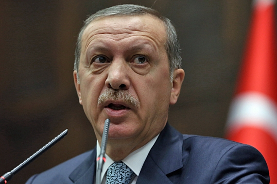 "Erdogan dismissed the recordings that exposed the alleged corruption in his inner circle as ""vile"" fakes [AP]"