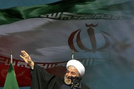 Rouhani called sanctions a big injustice and said the nation had suffered because of them [AP]