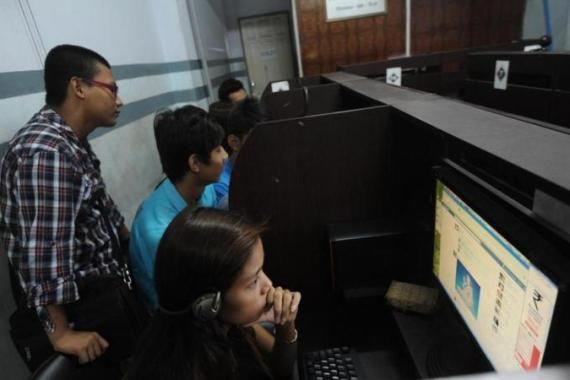 Two years ago Myanmar abolished internet controls [AFP/Getty Images]