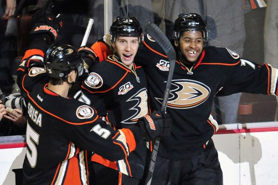 Anaheim's Nick Bonino scored 1:33 minutes into overtime to secure the win over Colorado [Reuters]