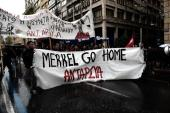 German Chancellor Angela Merkel's visit to Greece was met with angry protests [AFP/Getty Images]