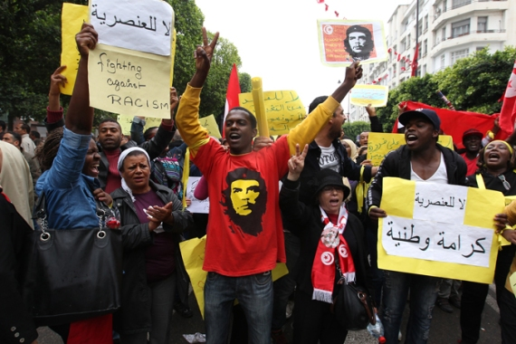 There is currently no law that protects Tunisian blacks from racial discrimination [EPA]