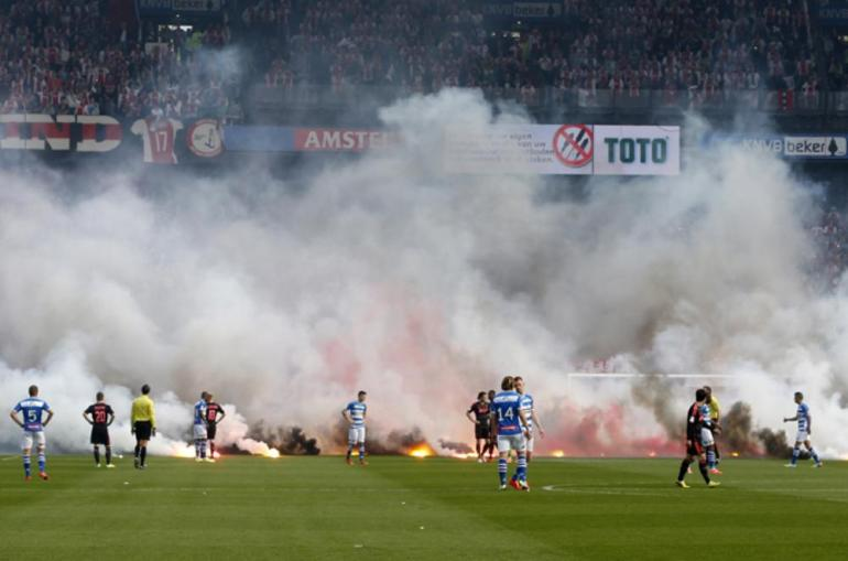 in pictures dutch cup final fireworks