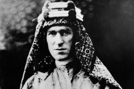 Like TE Lawrence, shown here in 1928, hundreds of young European men have joined Middle East wars [AP]