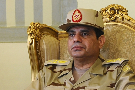 "Sisi told Egyptian TV that the Muslim Brotherhood's ideology was based on ""arrogance in religion"" [AP]"