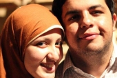 Gehad Khaled and her husband, Abdullah Elshamy [Al Jazeera]