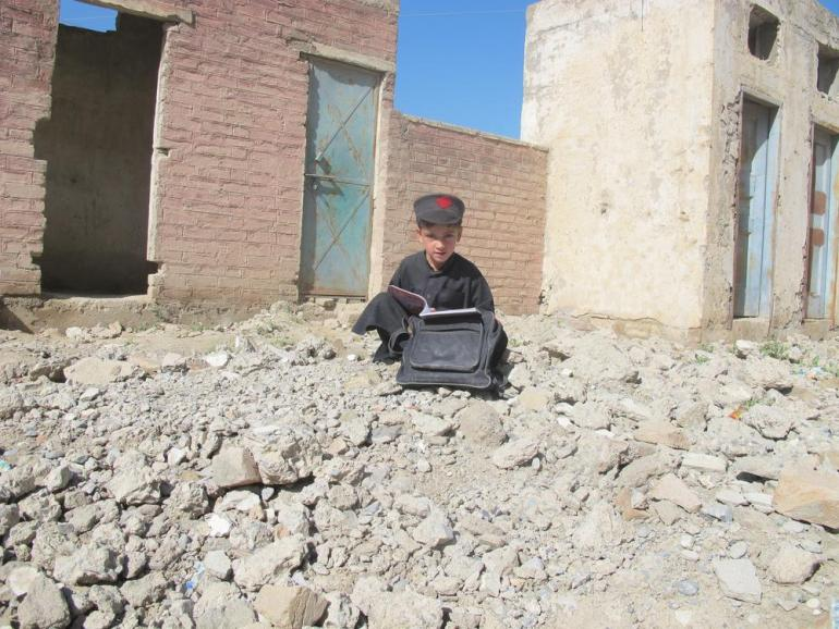 "Ajmal Mansoor, a student in the second grade, said: ""I was sleeping when I heard the booming sound of the blast in the school near my home. My parents asked me not to go to the school but still I attend the school."""