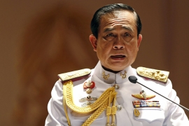 Thai coup leader rules out polls for a year