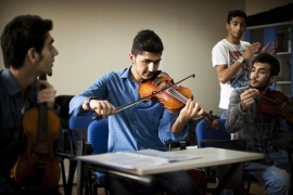 Members of the Sulukule Youth Orchestra say music is in their blood [Italo Rondinella/Al Jazeera]