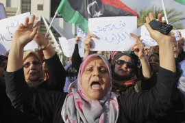 Hundreds rally in support for Libya's Haftar