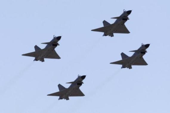 The Chinese fighter jets approached the Japanese military aircraft in separate incidents [Reuters]
