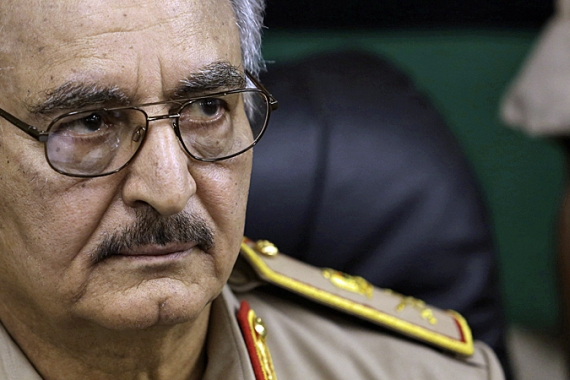 Haftar has declared war against groups such as Ansar al-Sharia and February 17 [Reuters]