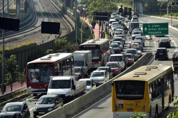 Last week's subway workers' strike caused traffic chaos in Sao Paulo  [AFP]